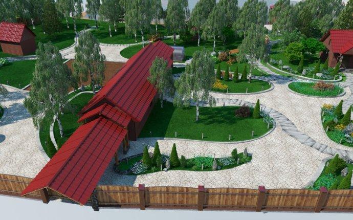 Благоустройство территории частного дома в п.Гузенеевский
