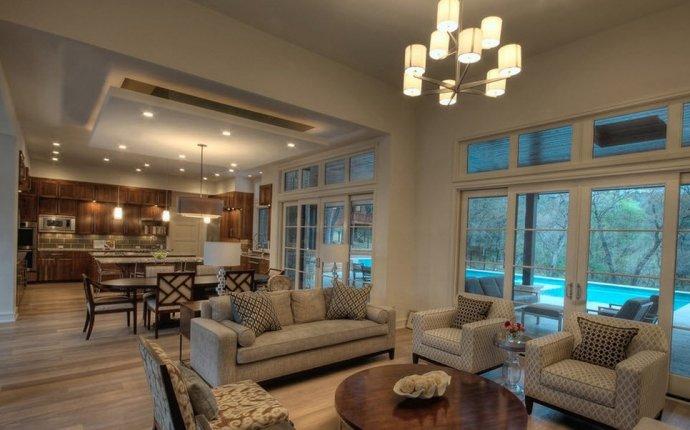 Дизайн кухни со столовой и гостиной в частном доме: фото идей