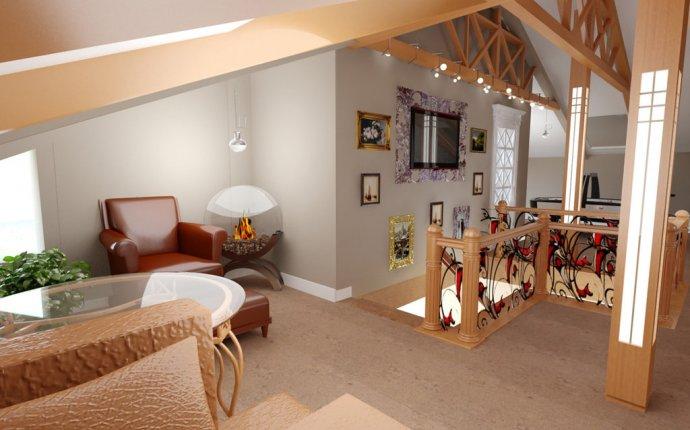 Дизайн-проект интерьера коттеджа (загородного дома, таунхауса и пр