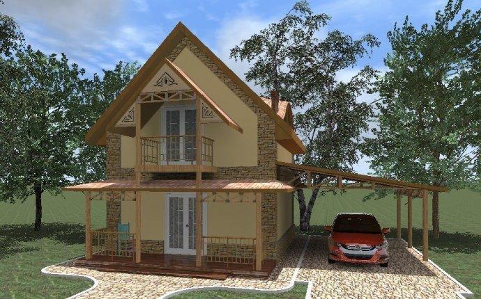 Дизайн входного крыльца частного дома