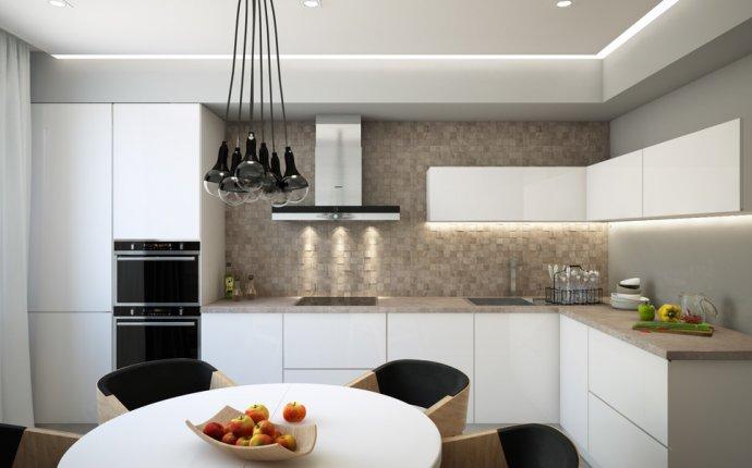 кухни современном стиле 18 кв.м фото