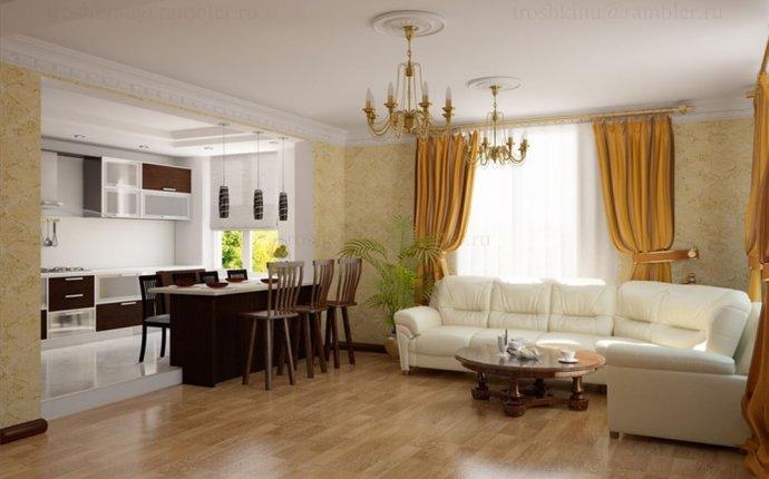 кухня-гостиная в доме фото
