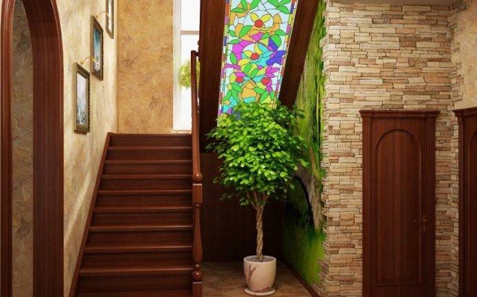 лестницы в холле в частном доме фото