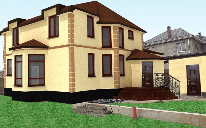 оформление фасада частного дома » Лучший креативный дизайн
