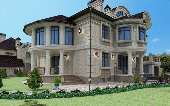 Оформление фасада кирпичного дома: дизайн, варианты отделки и