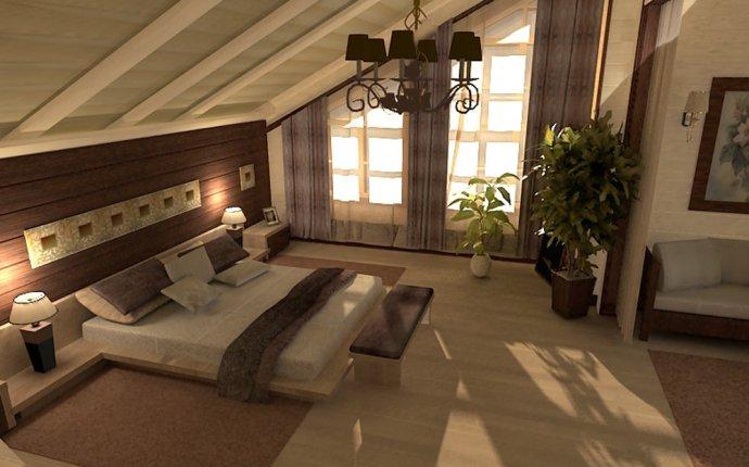 Ремонт и отделка спальной комнаты на даче в загородном