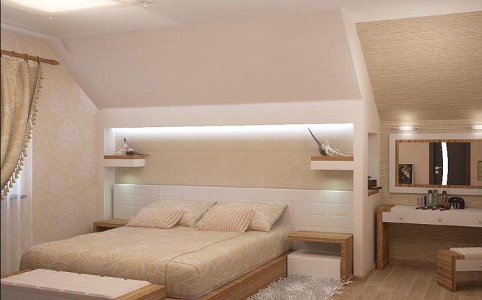 спальни на мансарды в частном доме
