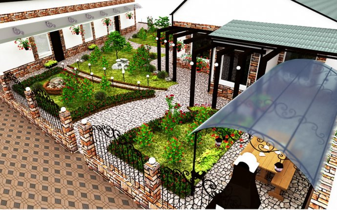 Дизайн территории у дома
